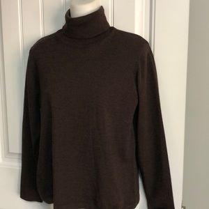 Morganc Italy Brown Merino Wool Sweater Lg